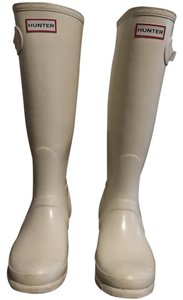 Hunter Tall Gloss Rainboot White Ice Boots