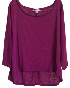 American Eagle Outfitters Top Dark Fuchsia