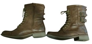 Cathy Jean Combat Brown Boots
