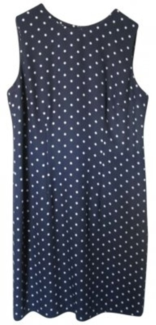 Sag Harbor short dress navy with white polka dots on Tradesy