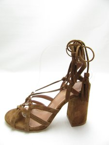 Day by Birger Et Mikelsen Suede Tassels Lace Up Brown Sandals