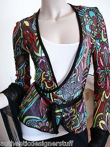 Missoni Wrap Around Wrap Around Cardigan Long Fringe Wrap Around Sweater