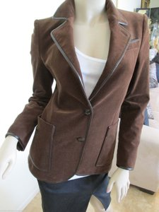 Gucci Velvet Two Button Brown Jacket