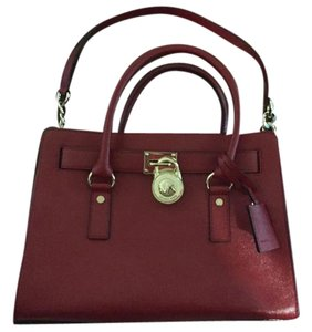 Michael Kors Kros Hamilton Satchel in Red