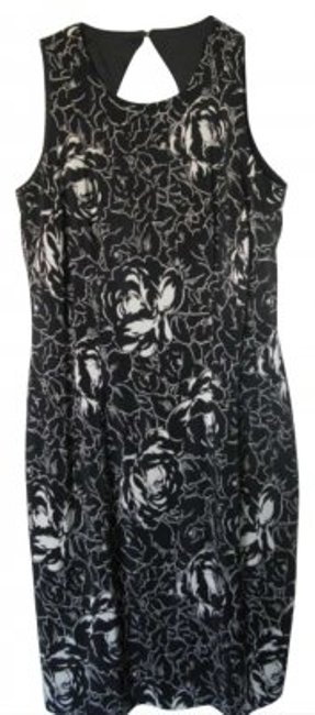 Preload https://item5.tradesy.com/images/maggy-london-black-with-white-floral-design-above-knee-cocktail-dress-size-8-m-189624-0-0.jpg?width=400&height=650