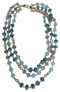 Carol Dauplaise Three Row Draped Necklace