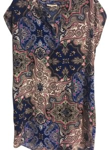 Freeway Apparel short dress Blue, white and pink paisley pattern on Tradesy