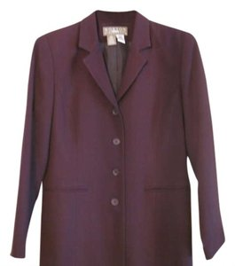 Norton McNaughton Wool 4-button Petite Eggplant Blazer