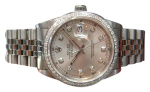 Rolex MENS ROLEX OYSTER PERPETUAL DATEJUST DIAMOND DIAL & BEZEL STAINLESS