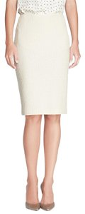 St. John St Tweed Santana Caviar Skirt WINTER WHITE