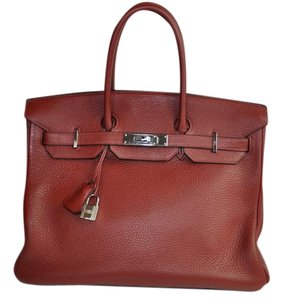 Hermès Togo Leather Birkin Satchel in Burgundy