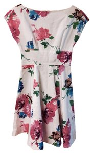 Kate Spade short dress White with pink and blue floral design on Tradesy