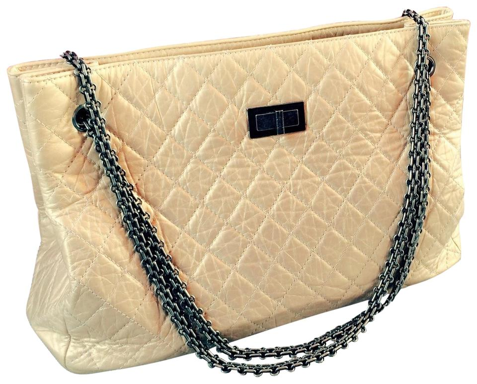edcd2256a792 Chanel Prada Br3429 Canvas Leather Tote in Classic Light Gold / Champagne  Image 0 ...