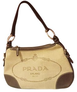 Prada Br3429 Canvas Leather Classic Hobo Bag