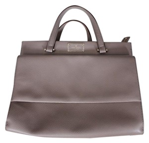 Kate Spade Leather Satchel in Taupe