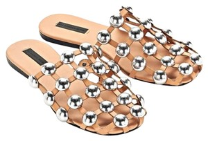 Alexander Wang Tan leather wirh silver round studs Sandals