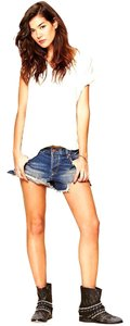 Free People Jeans Cut Off Shorts Felton Blue Wash