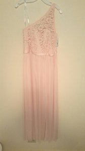 David's Bridal Petal Pink F17063 Formal Bridesmaid/Mob Dress Size 12 (L)