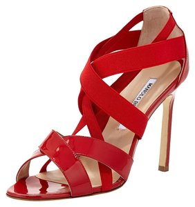 Manolo Blahnik Patent Louboutin red Sandals