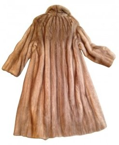 Saks Fifth Avenue Stored Yearly Redesigned Draw String Waistline Fur Coat