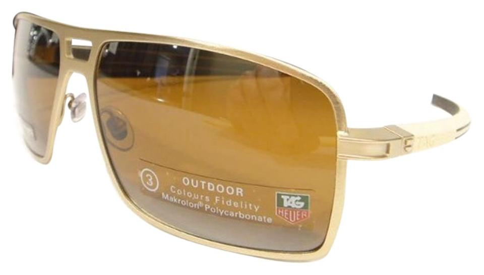 93363991cff TAG Heuer Tag Heuer 0987 Senna Racing Sunglasses 203 Brushed Gold Authentic  New - 37%