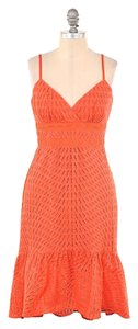Trina Turk Cotton Eyelet Sweetheart Dress