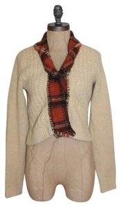 Anthropologie Wool Sweater Blanket Heart Cardigan
