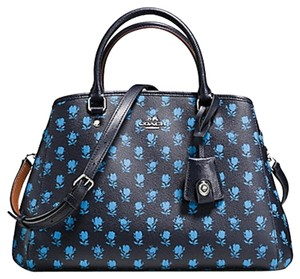 Coach Structured Strap Flowers Blue Cross Body Bag