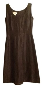 Louis Feraud Linen Silk Day To Night A-line Sleeveless Dress