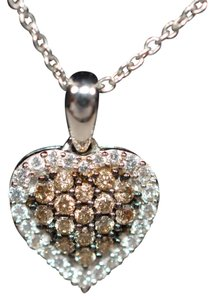 LeVian LeVian .50tcw Chocolate Diamond 14kt White Gold Pendant Necklace