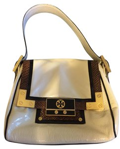 Tory Burch Patent Leather Snakeskin Shoulder Bag