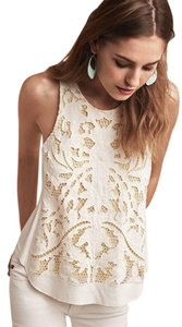 Akemi + Kin Anthropologie Top White/Yellow