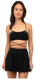 Michael Kors Strappy Belted Skirted Two-Piece Swimsuit
