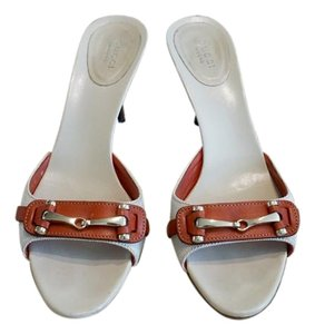 Gucci Open Toe light beige with burnt orange Sandals
