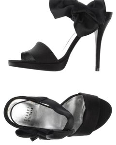 Stuart Weitzman Satin Bow Black Formal