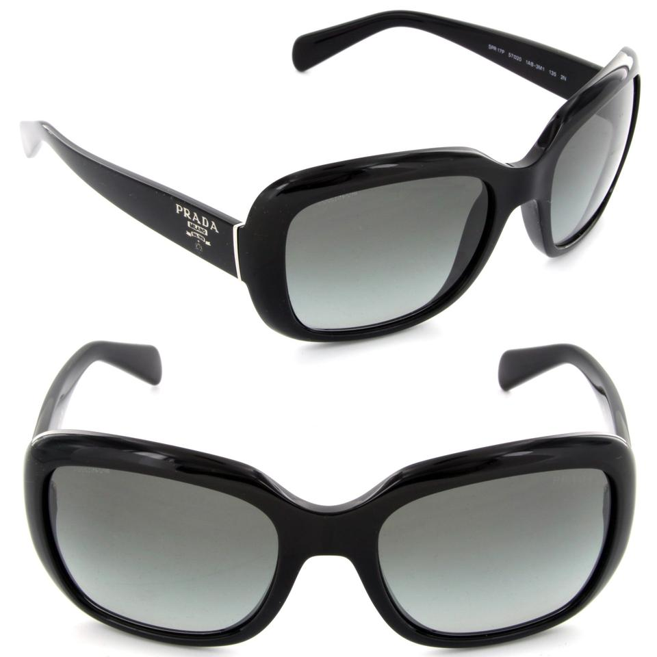 04ae83ebaa35e Prada Black Spr 17p New Classic Made In Italy Sunglasses - Tradesy