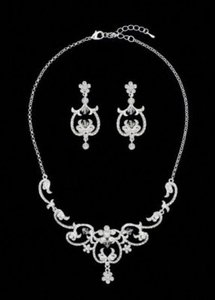 David's Bridal Necklace and Earring Jewelry Set