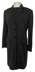 Max Mara MaxMara Black Tweed Dress Suit With Long Blaxer Jacket