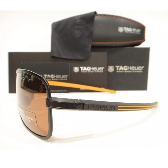 TAG Heuer Tag Heuer 0998 Senna Racing Sunglasses 204 Black / Orange Authentic New