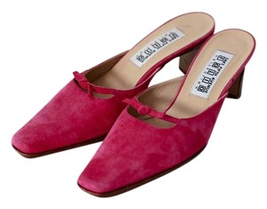 Saks Fifth Avenue Pink Mules