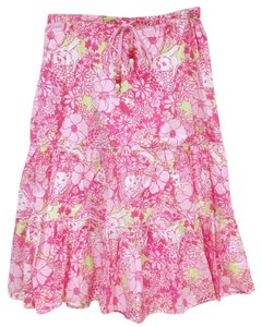 Lilly Pulitzer Skirt Pink, Green, White