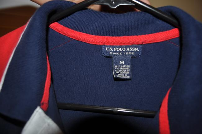 U.S. Polo Assn. Button Down Shirt Navy blue and red