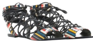 Lust For Life Multi Stripe Black Sandals