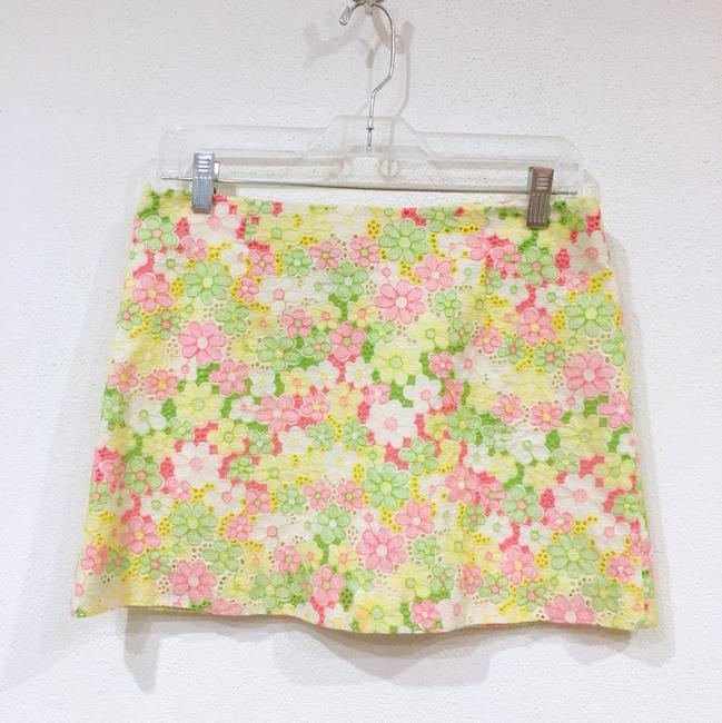 Lilly Pulitzer Mini Skirt Pink, Green, Yellow, White