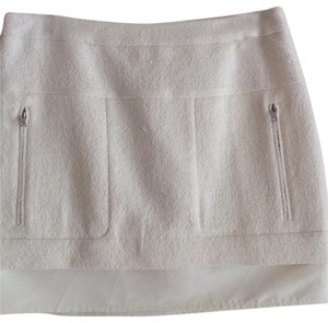 BCBGMAXAZRIA Mini Skirt Off White
