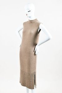 Other short dress Brown Sally Lapointe Taupe Cashmere Sleeveless Split Maxi on Tradesy