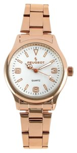 Peugeot Peugeot Women's Rose Gold-tone White Dial Link Bracelet Watch
