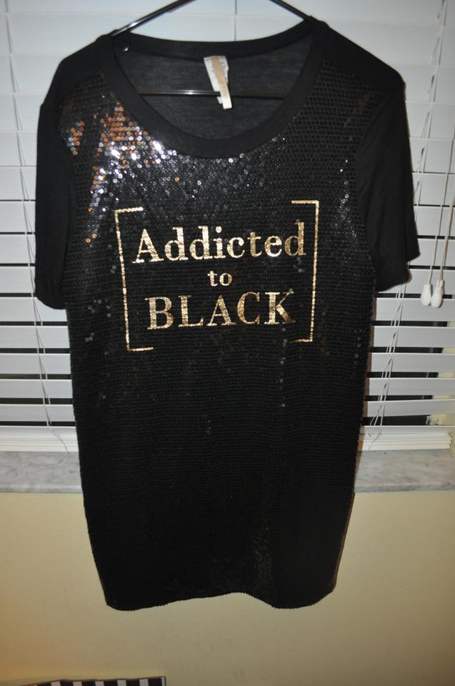 0807d6c45abd8 KToo Black/Gold Addicted Sequin Tunic Mini Night Out Dress Size 6 (S ...
