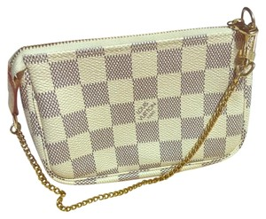 Louis Vuitton Wristlet in White And Gray