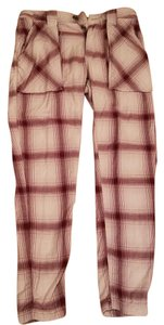 Free People Skater Casual Cargo Pants plaid